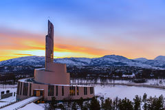 Northern Lights Cathedral at Sunset Royalty Free Stock Images