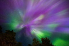 Northern lights Crown (Aurora borealis) in the sky. Colorful Northern lights Crown (Aurora borealis) in the sky royalty free stock photography