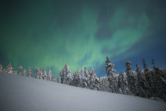 Northern lights. In Finland, Lapland royalty free stock image