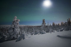 Northern lights. In Finland, Lapland Stock Image