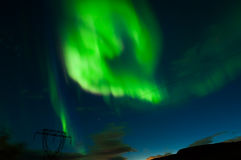 Northern lights in Iceland stock photography