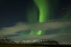 Northern lights in the iceland sky Stock Images