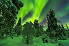 Free Northern Lights In Finish Lapland Stock Photography - 105543192