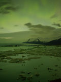 Northern Lights in Jokulsarlon ,iceland Royalty Free Stock Photos