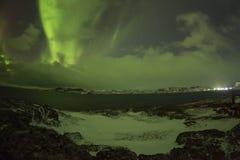 Northern Lights on the Kola Peninsula. Teriberka, Murmansk regio Stock Photo