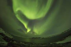 Northern Lights on the Kola Peninsula. Teriberka, Murmansk regio Royalty Free Stock Photo