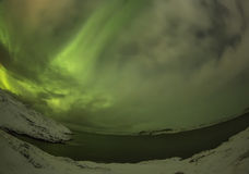 Northern Lights on the Kola Peninsula. Teriberka, Murmansk regio Stock Photos