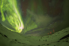 Northern Lights on the Kola Peninsula. Teriberka, Murmansk regio Royalty Free Stock Images