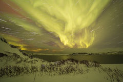 Northern Lights on the Kola Peninsula. Teriberka, Murmansk regio Royalty Free Stock Images