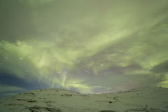 Northern Lights on the Kola Peninsula. Teriberka, Murmansk regio Royalty Free Stock Photo