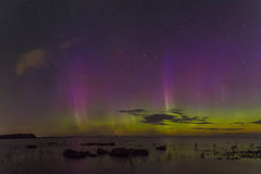 Northern Lights on Lake Ladoga, Leningrad, Russia Royalty Free Stock Photos