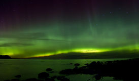 Northern lights 03.11.15 , lake Ladoga, Russia Stock Photography