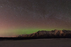 Northern Lights And the Milky Way. The northern lights and the milky way light up the night sky Stock Photos