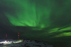Northern lights, Murmansk region, Russia Stock Photo