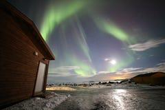 Northern Lights. In Myvatn, Iceland Stock Photo