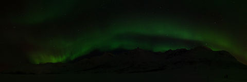 Northern Lights near Tromso, Norway Stock Images