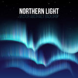 Northern lights, nunavut canada, pole arctic night abstract background. Aurora borealis in atmosphere, colorful sky with colored northern lights. Vector Stock Images