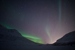 Northern Lights outside Tromso Royalty Free Stock Photo