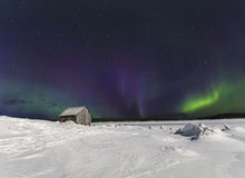 Northern lights over the Bay of the White sea near the village Nilmoguba, Russia. Northern lights over the Bay of the White sea near the village Nilmoguba royalty free stock photo