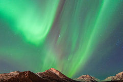 Northern Lights. The Northern lights over the Chugach Mountains Royalty Free Stock Images