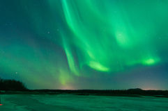 Northern Lights. Over a frozen river Royalty Free Stock Photos