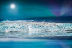 Northern lights over glacier Royalty Free Stock Image