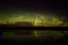 Northern lights over lake Royalty Free Stock Photo