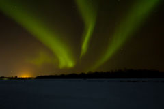 Northern lights over Lapland Stock Images