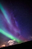 Northern lights over Nuuk city Royalty Free Stock Images