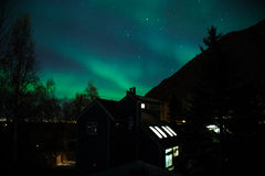 Northern LIghts over Residence Stock Images
