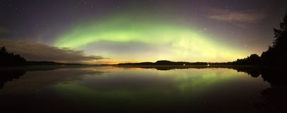 Northern Lights Panorama Stock Photos