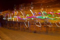Northern Lights Parade in Hoogeveen, Netherlands Royalty Free Stock Photos