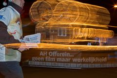 Northern Lights Parade in Hoogeveen, Netherlands Royalty Free Stock Images