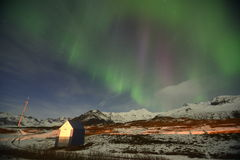 The northern lights. Pictures of northern lights taken somewhere at Vik, Iceland Stock Image