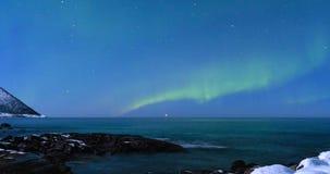 Northern Lights, polar light or Aurora Borealis in the night sky stock video