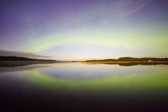 Northern Lights Reflections Stock Image