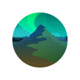 Northern Lights, Round Illustration Royalty Free Stock Images