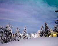 Northern lights in Rovaniemi - lapland royalty free stock photos