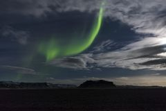 The Northern Lights in Iceland stock image