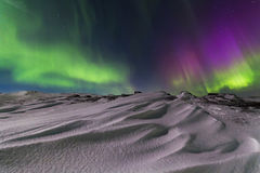 Northern Lights on the shore of the Arctic Ocean Royalty Free Stock Photography