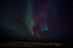 Northern lights on a shore Royalty Free Stock Photo