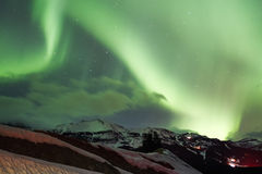 Northern Lights in the Sky Stock Photo