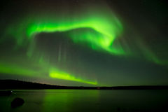 Northern Lights in Starry Sky Royalty Free Stock Photo