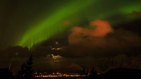 Northern lights stock footage