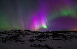 Northern Lights. During winter time in Iceland Royalty Free Stock Images