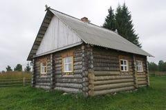 Northern log cabin. Royalty Free Stock Photos