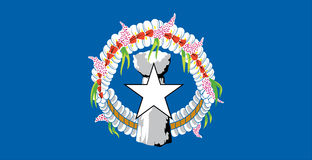 Northern Mariana Islands flag. Illustrated flag of the Northern Mariana Islands Stock Photos