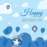 Northern Mariana Islands Independence Day Flat. Royalty Free Stock Photos
