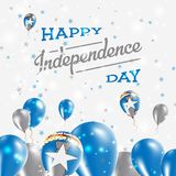 Northern Mariana Islands Independence Day. Northern Mariana Islands Independence Day Patriotic Design. Balloons in National Colors of the Country. Happy Stock Images
