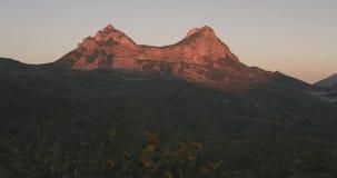 Northern Montenegro sedlo mountain pass. At sunset stock footage